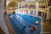 Shooting in der Schwimmhalle im alten Volksbad in Nürnberg